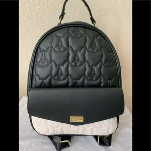 NWT Betsey Johnson Quilted French Bulldog Backpack